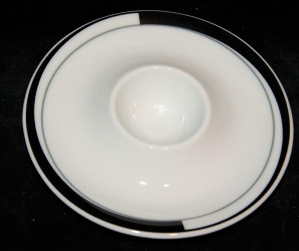 Eierbecher mit Ablage La Belle Black & White 13 cm